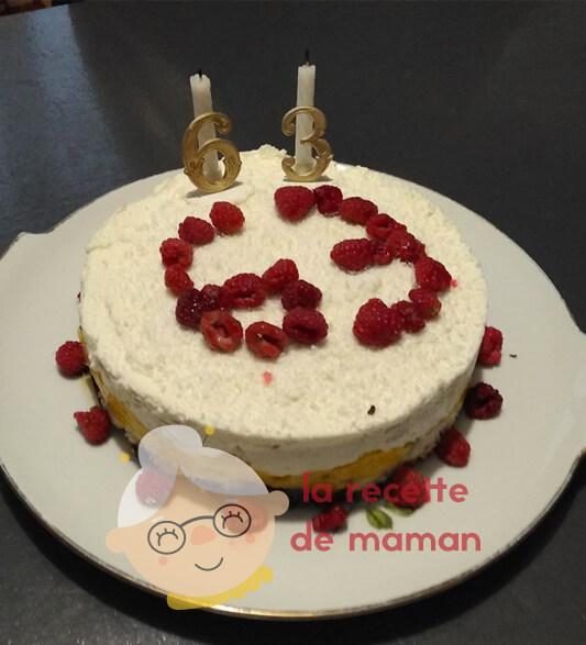 Gâteau mangue-noix de coco