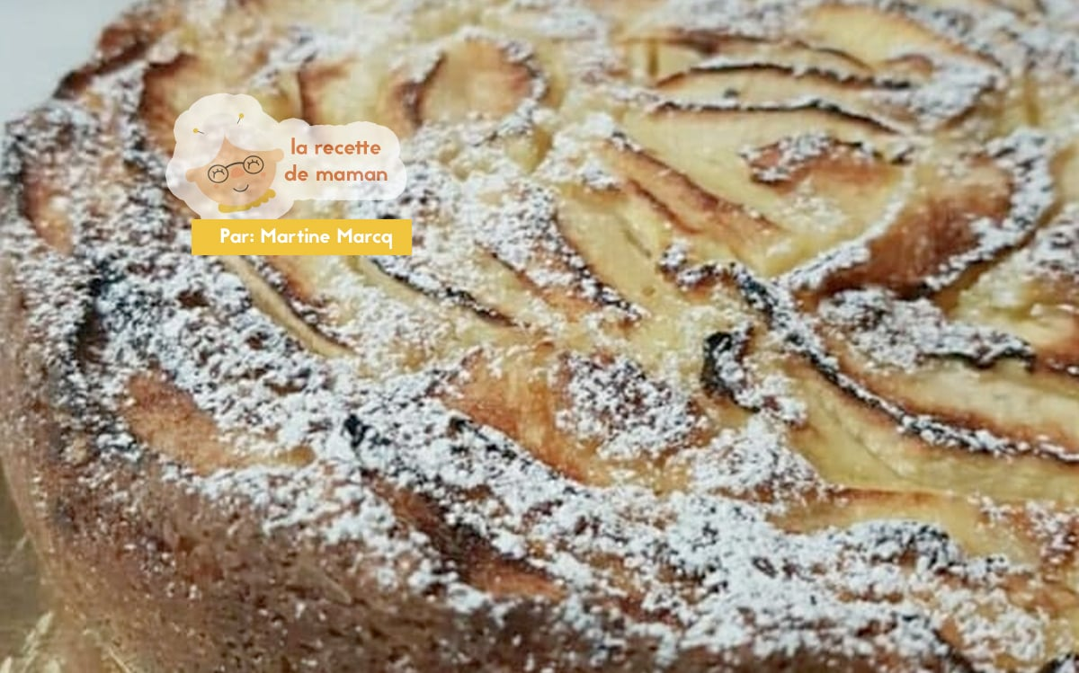 Gâteau moelleux pommes crème d'amandes