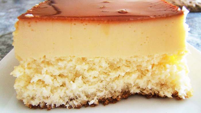 Gâteau Flan à la Noix de Coco