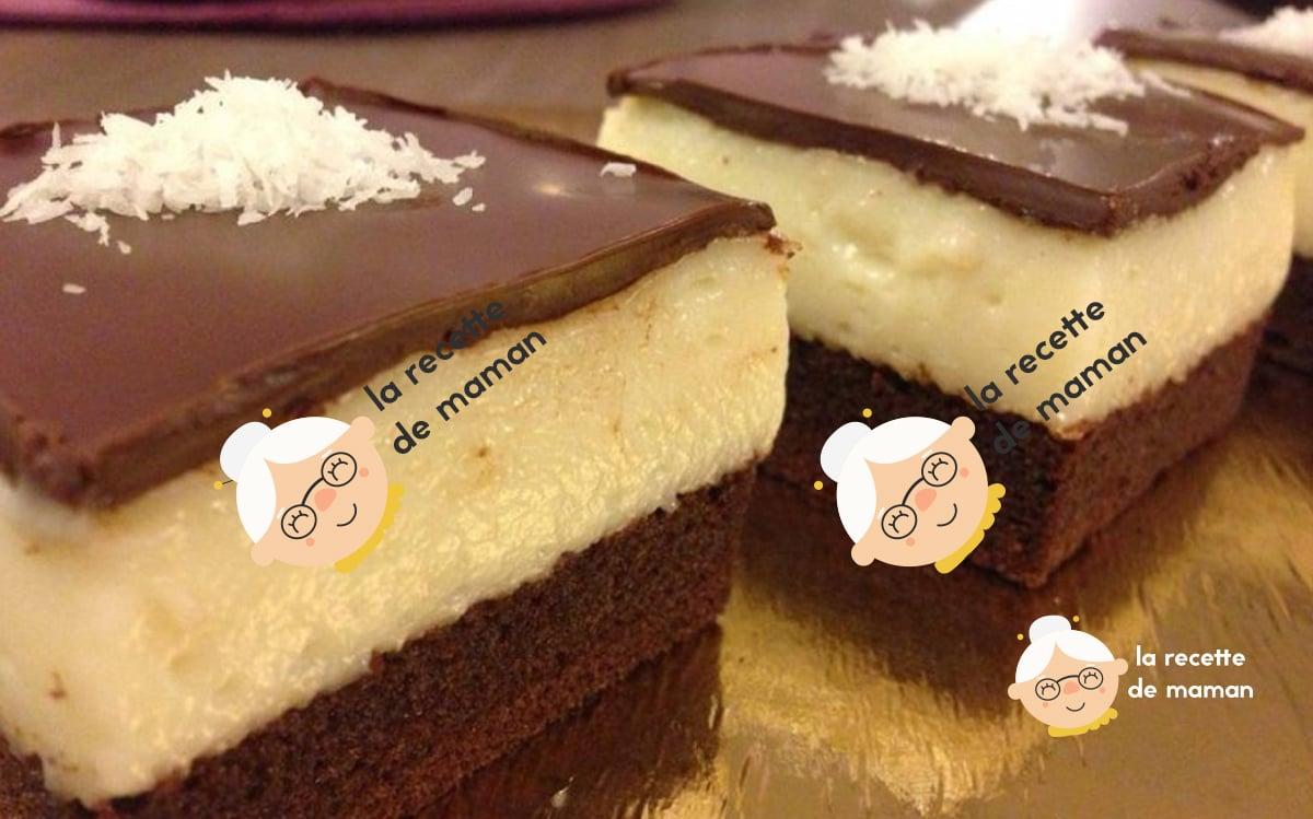 Carrés de chocolat et crème