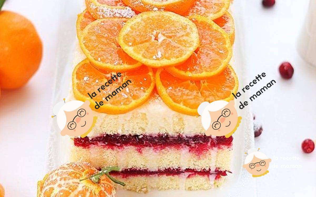 Gâteau orange canneberge