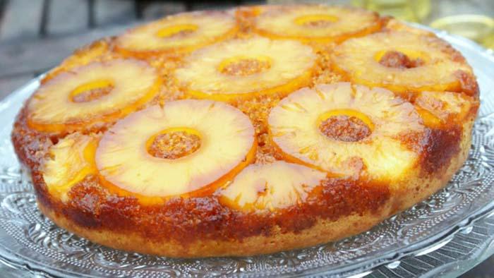 Gateau renversé a l'ananas facile