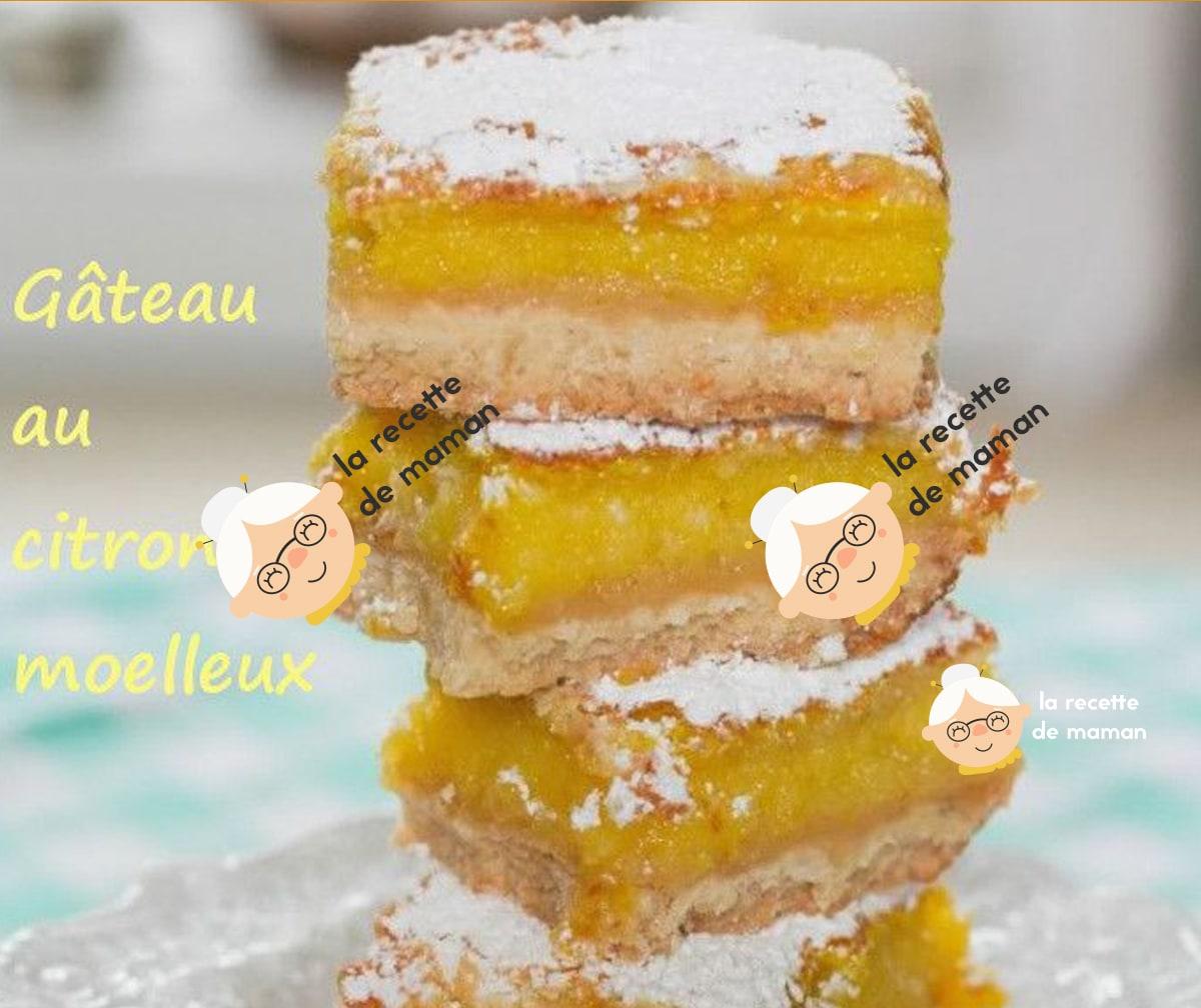 Recette gateau au citron moelleux