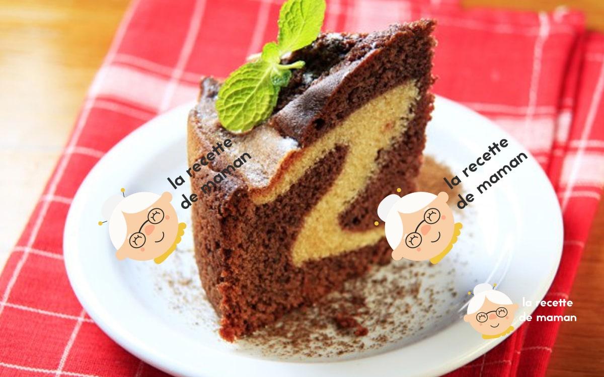 Gâteau au Chocolat Marbré