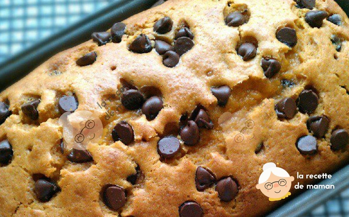 Cake aux Pépites de Chocolat facile