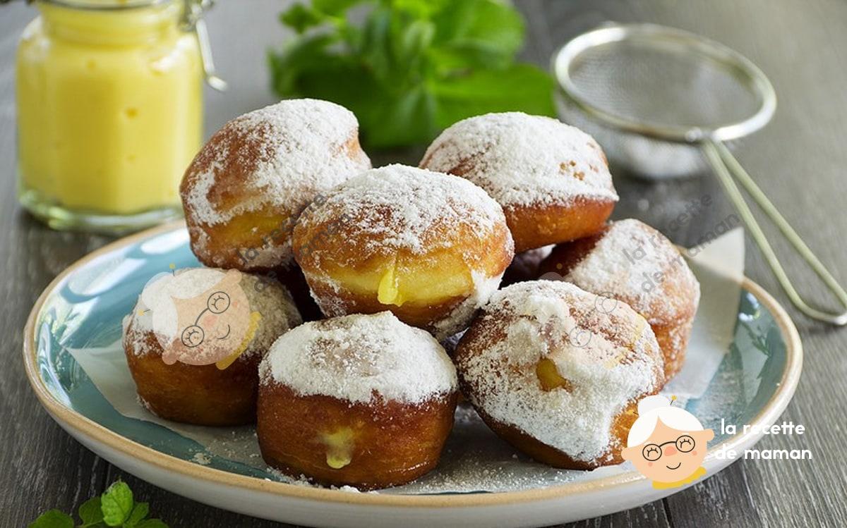 Donuts et beignets aux lemon curd