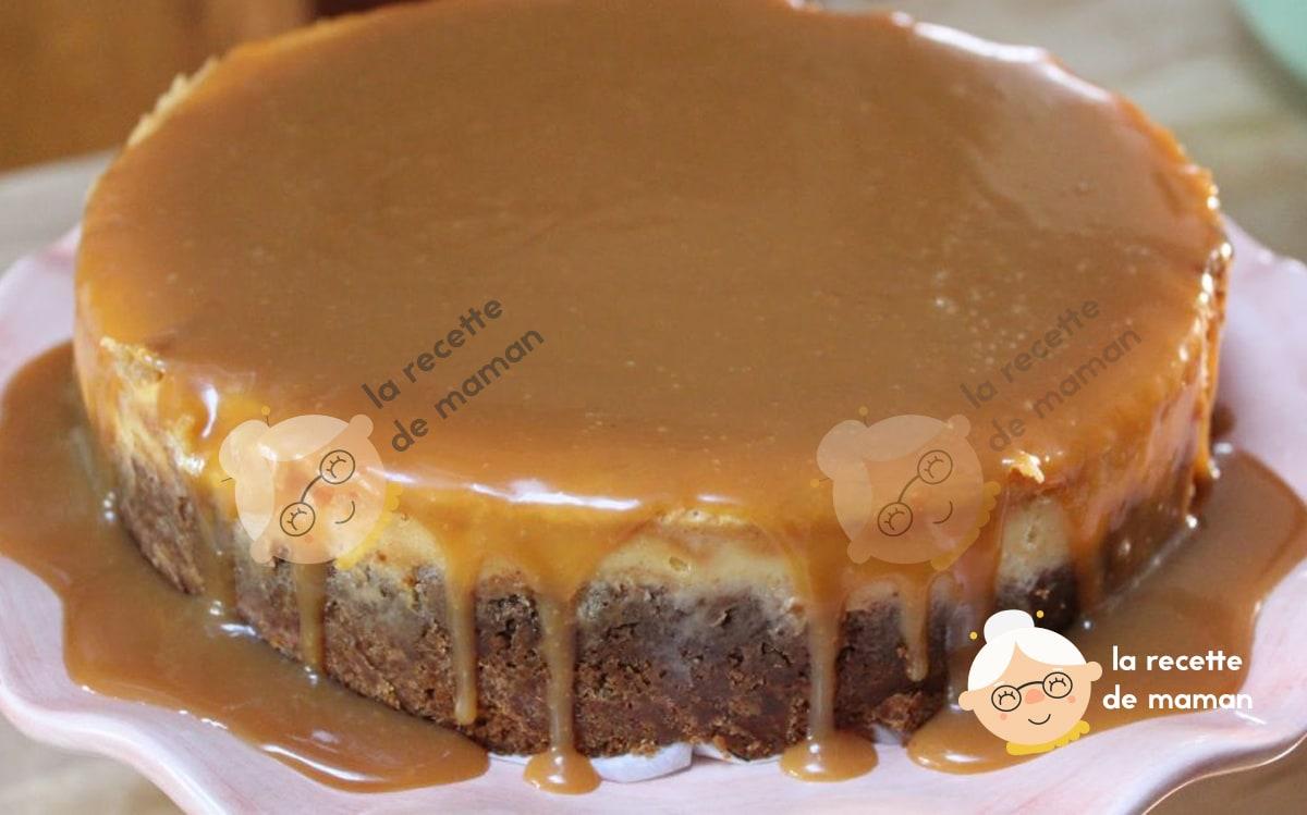 Cheesecake chocolat blanc caramel