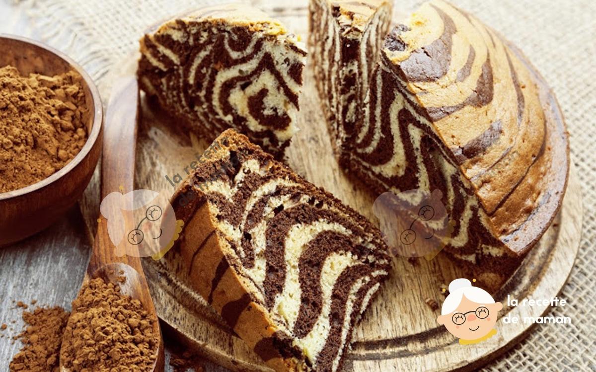 Gâteau tigré, zébré ou le zebra cake