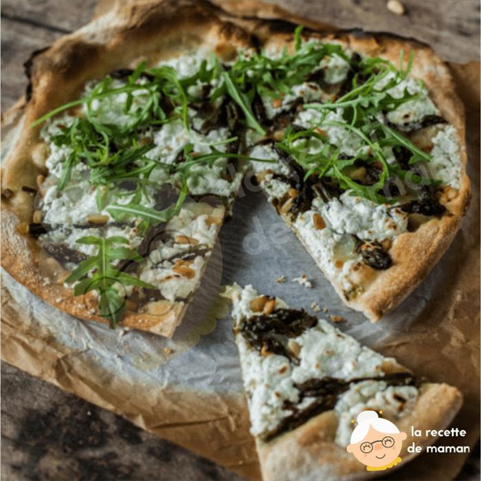 Pizza blanche aux asperges vertes…ou quand je m'emmêle les couleurs !