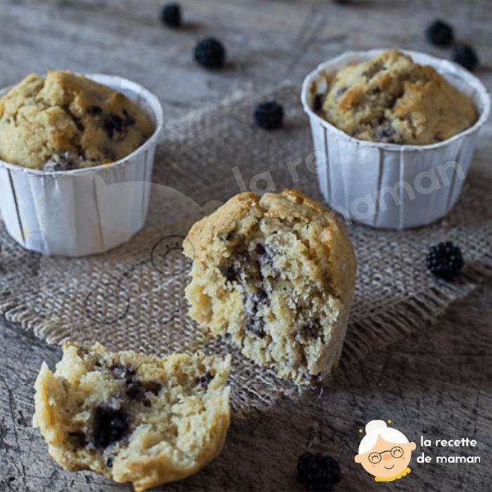 Muffins à la mûre, citron vert et lait ribot