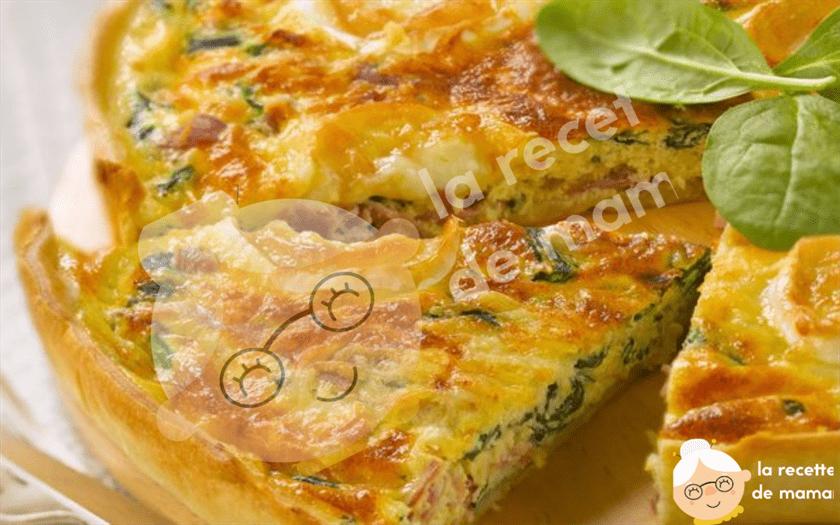 Quiche aux épinards et au fromage