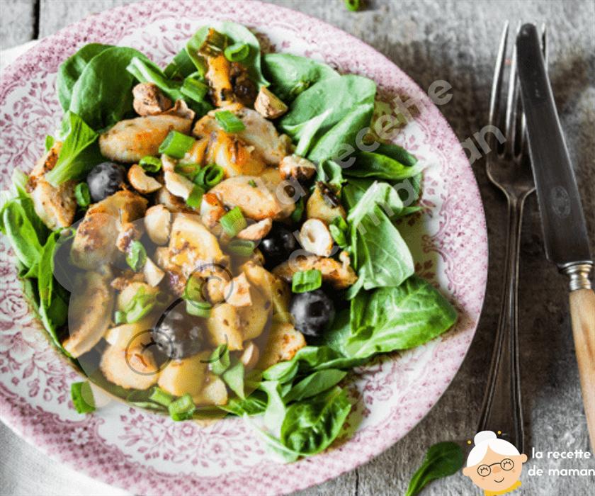Salade de boudin blanc aux saveurs d'automne