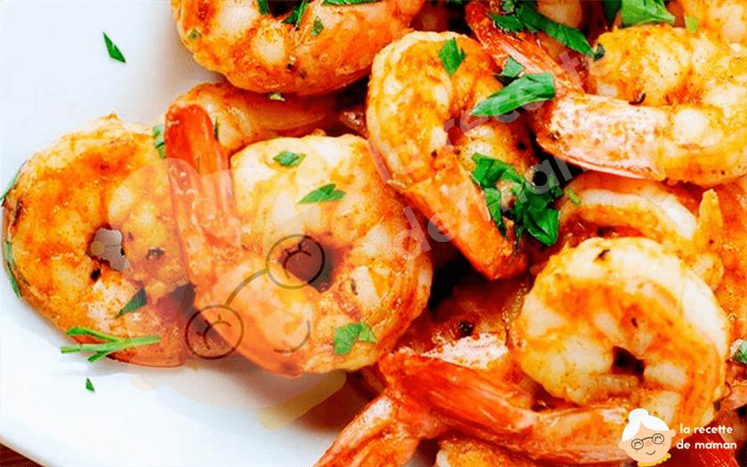 Crevettes pochées