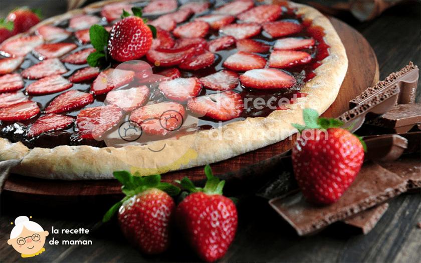 Pizza choco-fraise