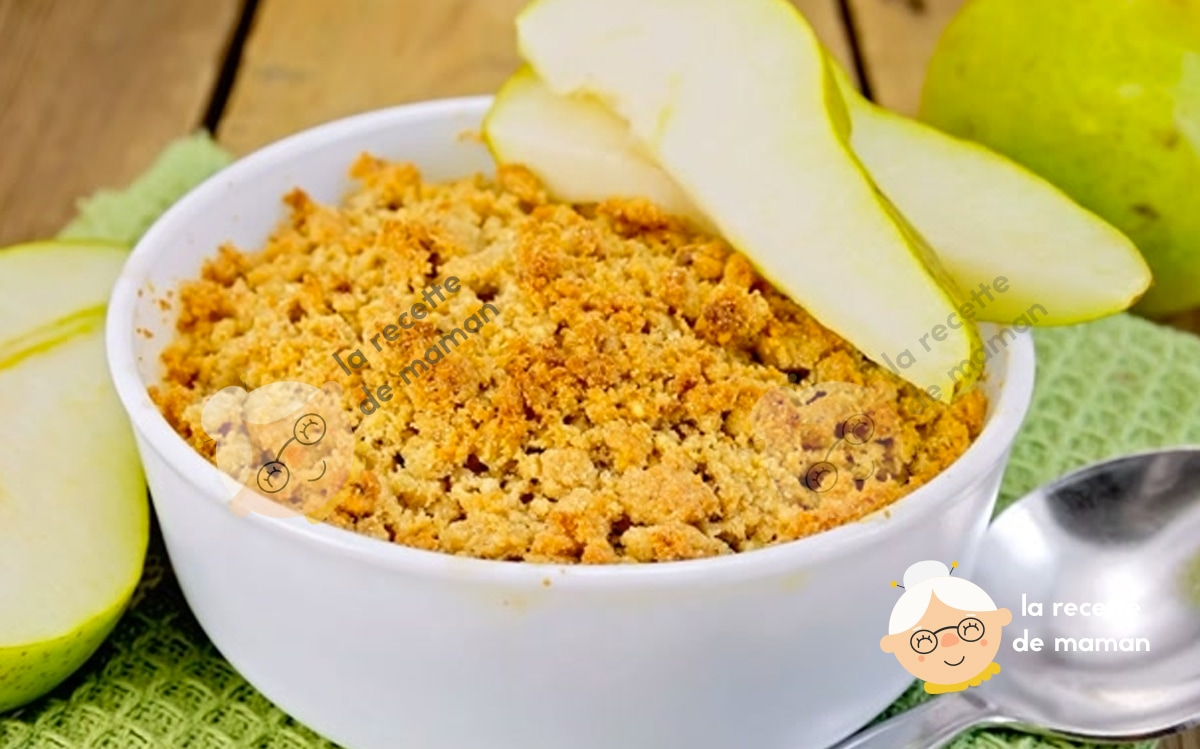 Crumble poire cardamome