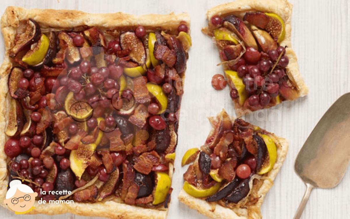 Tarte aux raisins et figues