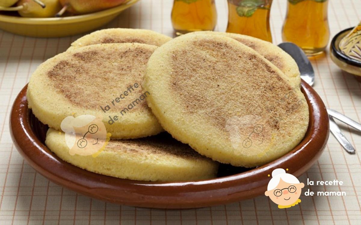 Harcha ou galette de semoule marocaine